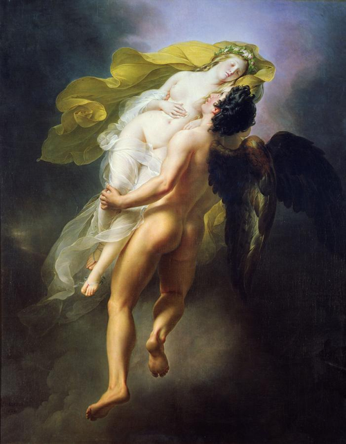 Joseph-Ferdinand Lancrenon - Boreas Abducting Oreithyia, 1822 small
