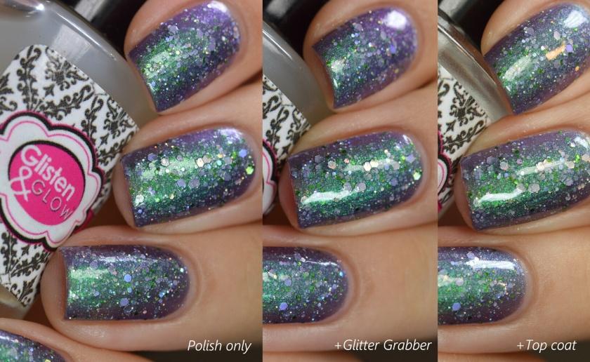 swatch glisten & glow glitter grabber 1