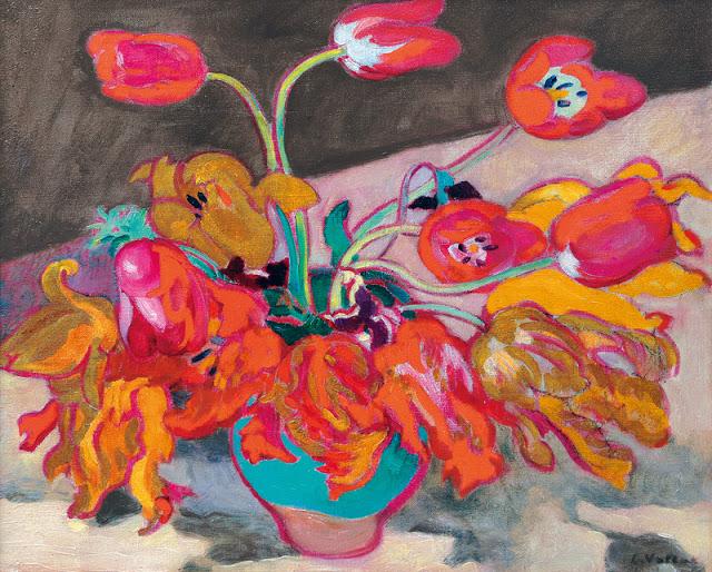1923c Tulips in a Vase