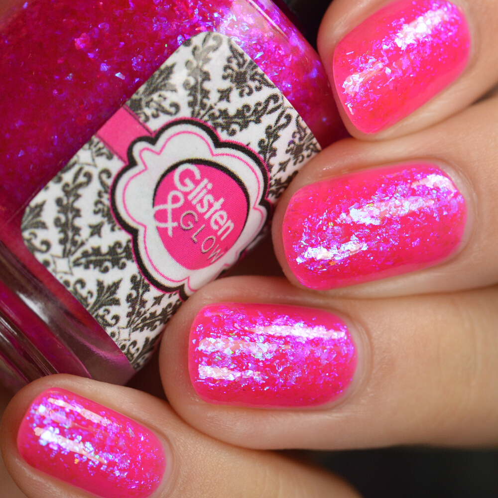 swatch glisten&glow pink in the city 4